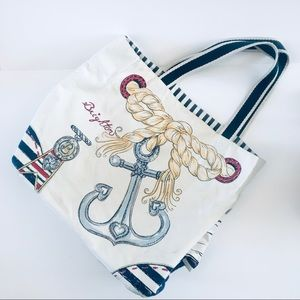 "Brighton ""Beachy Keen"" Large Canvas Tote Bag"